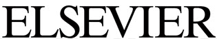Elsevier logo, black text on a white background