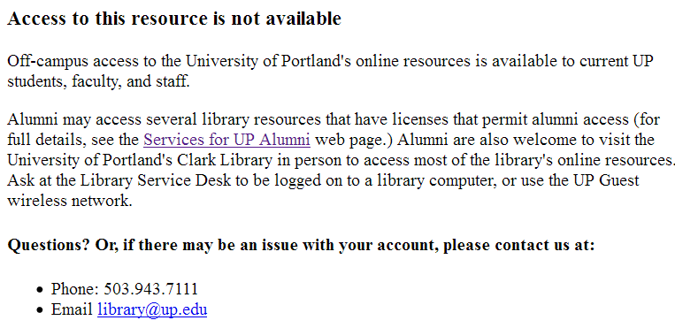 Access to this resource is not available
