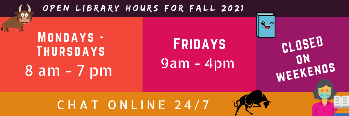 Open hours for Fall 2021