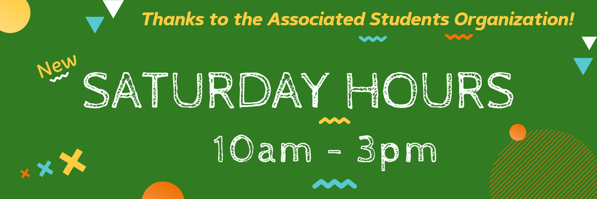 Saturday hours from 10am to 3pm