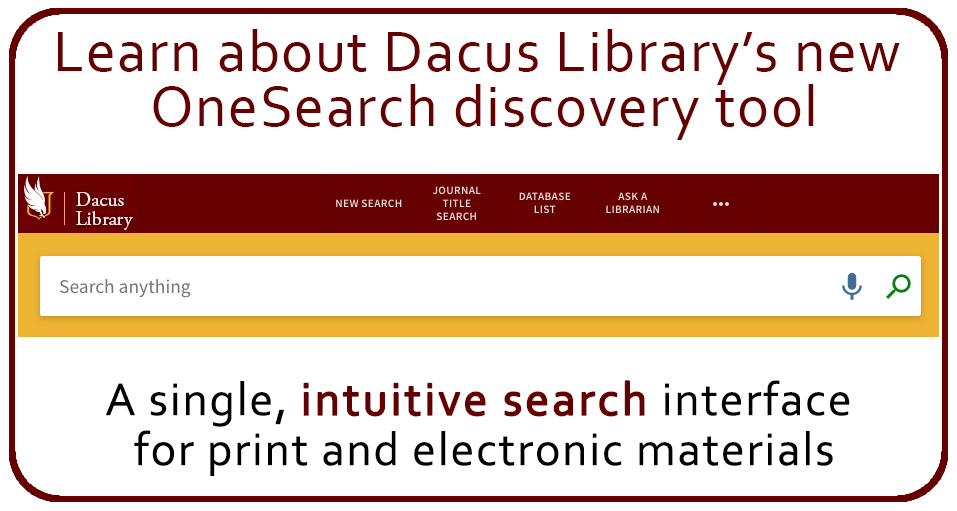 OneSearch Discovery Tool