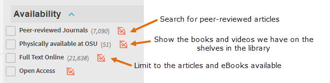 Use Availability to make your search more specific