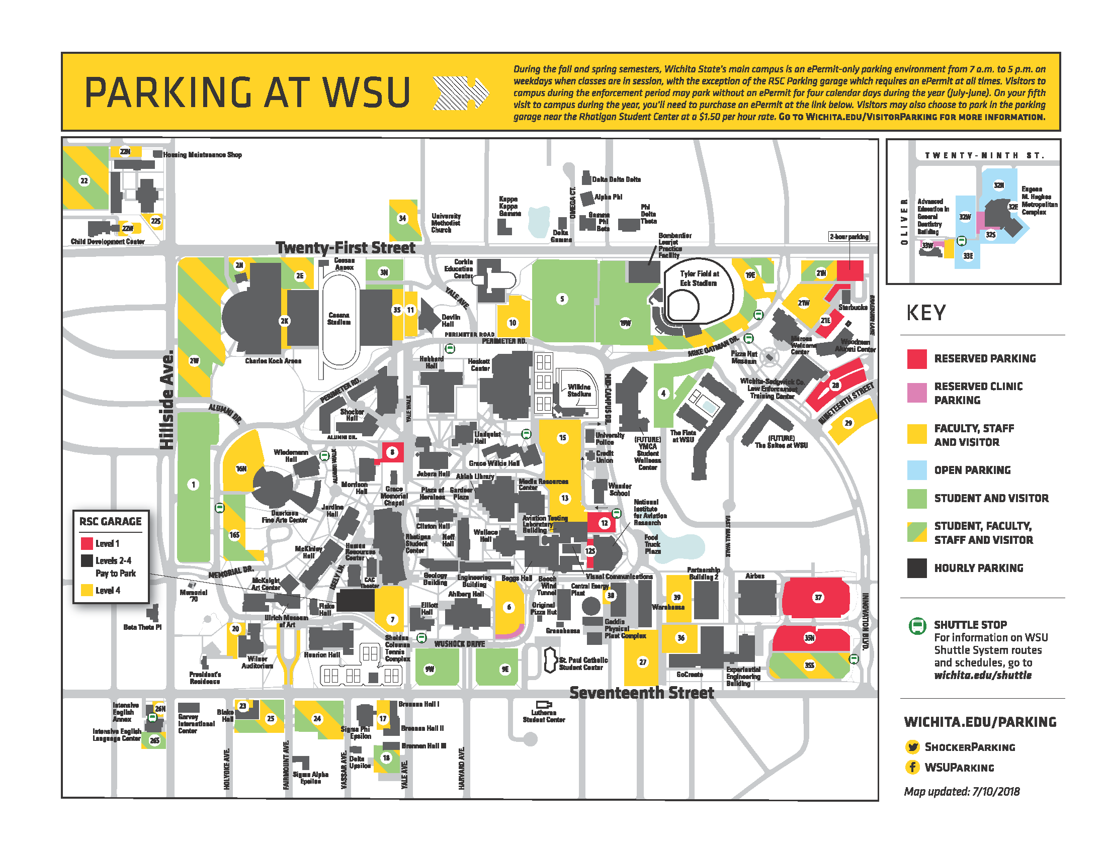 Fall 2018 Parking Map