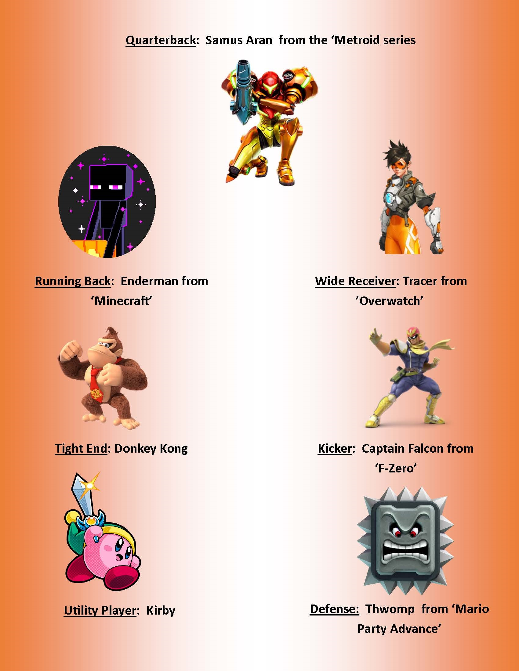pictures of characrers on Smash Bros + Friends