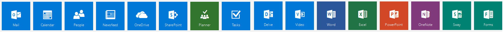 email office 365 icons banner