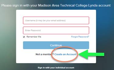 lynda create an account