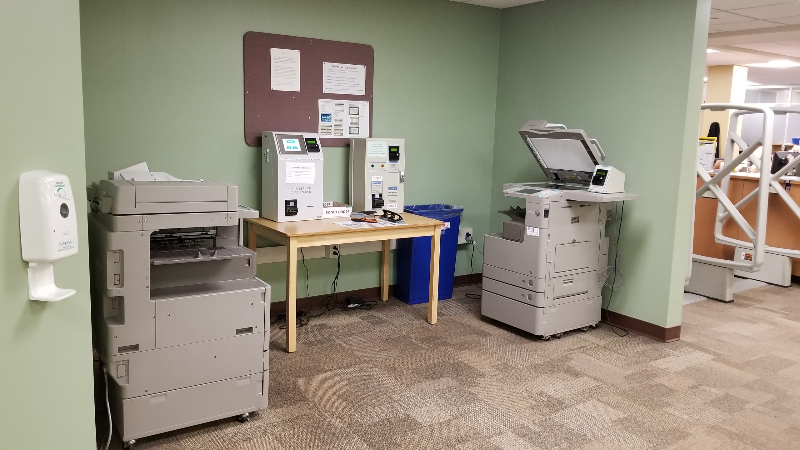 image of photocopiers in library