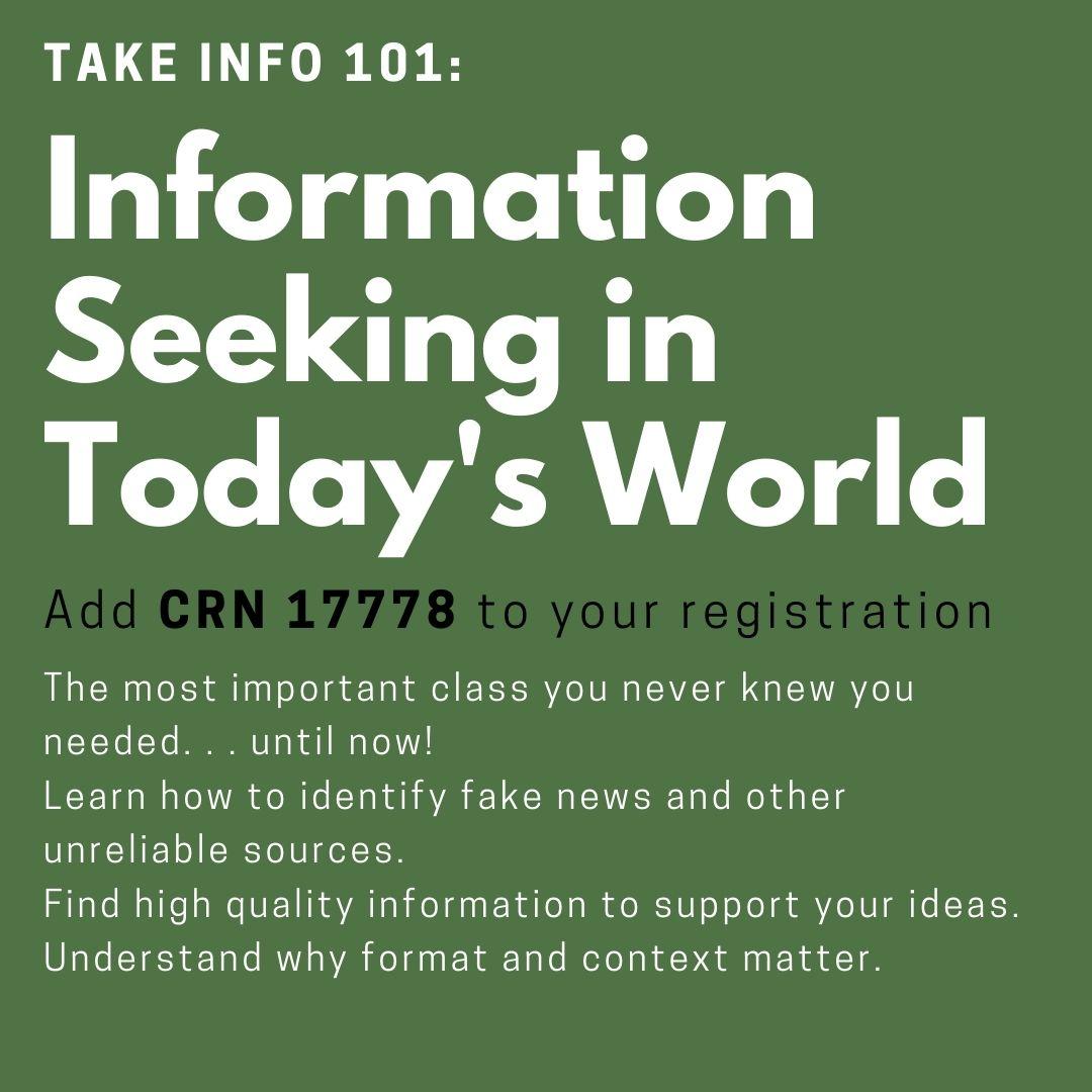 register for INFO 101