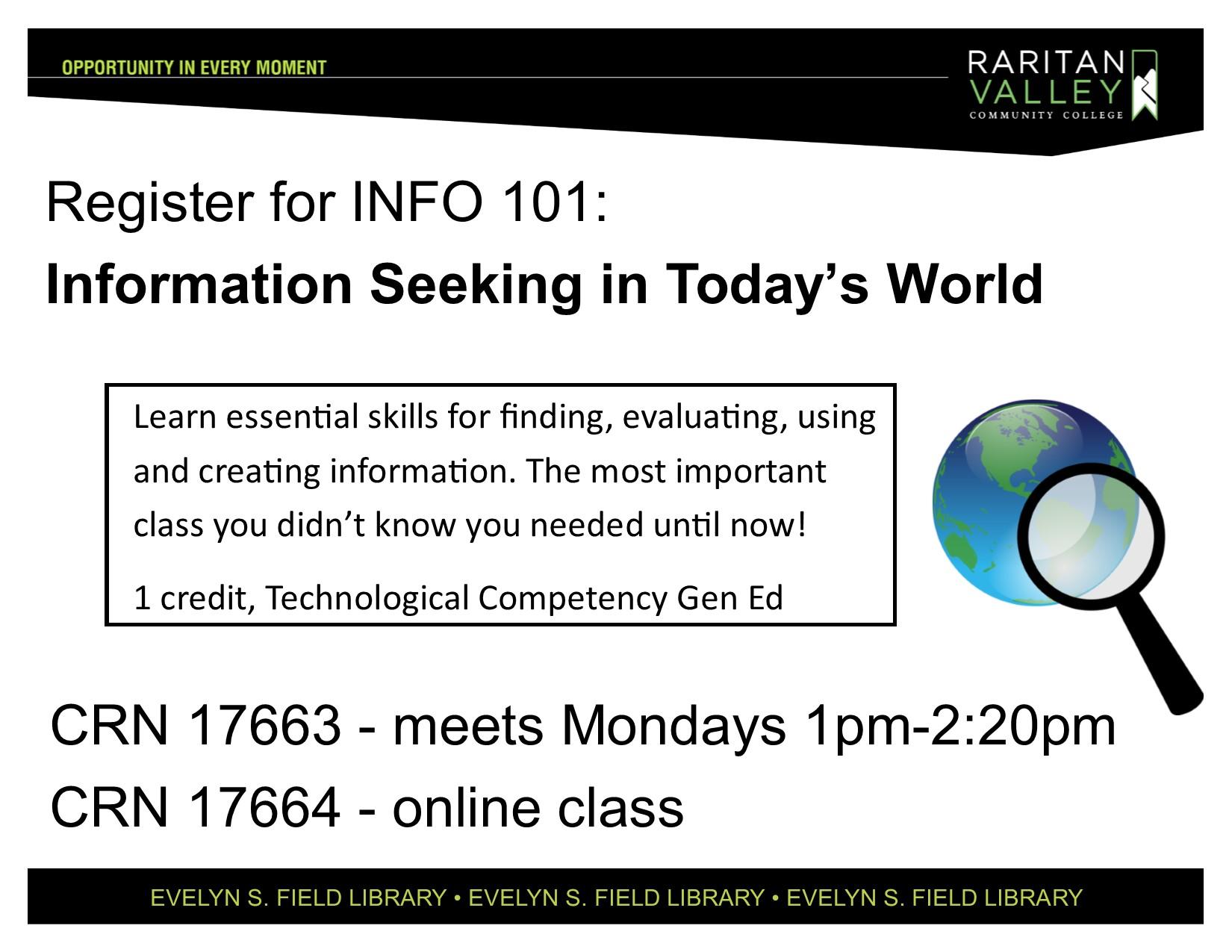 register for INFO101