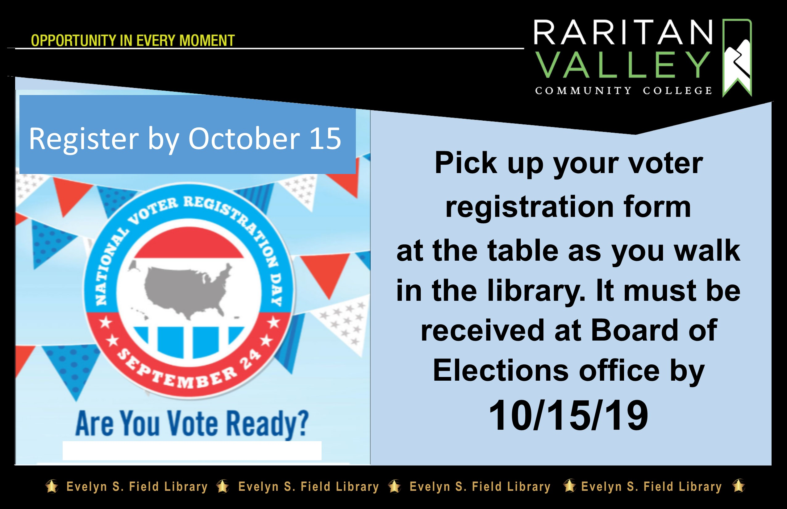 register to vote by October 15