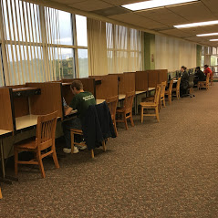 Individual study carrels on second floor