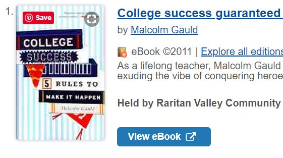 screenshot of book cover with View ebook button visible