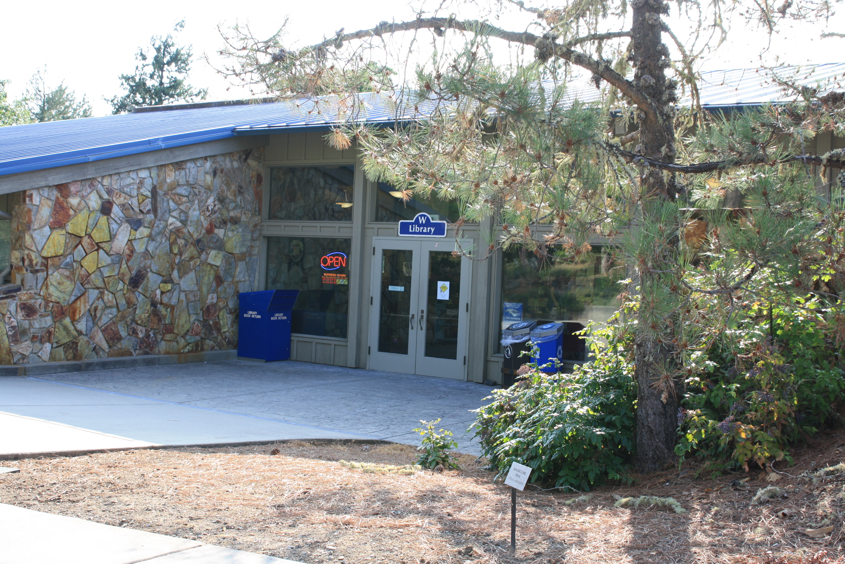 Redwood Campus Library Entrance