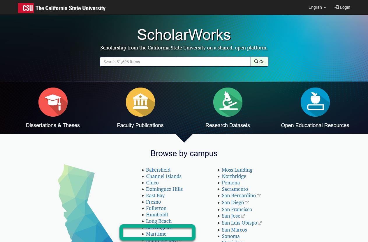 scholarworks landing page