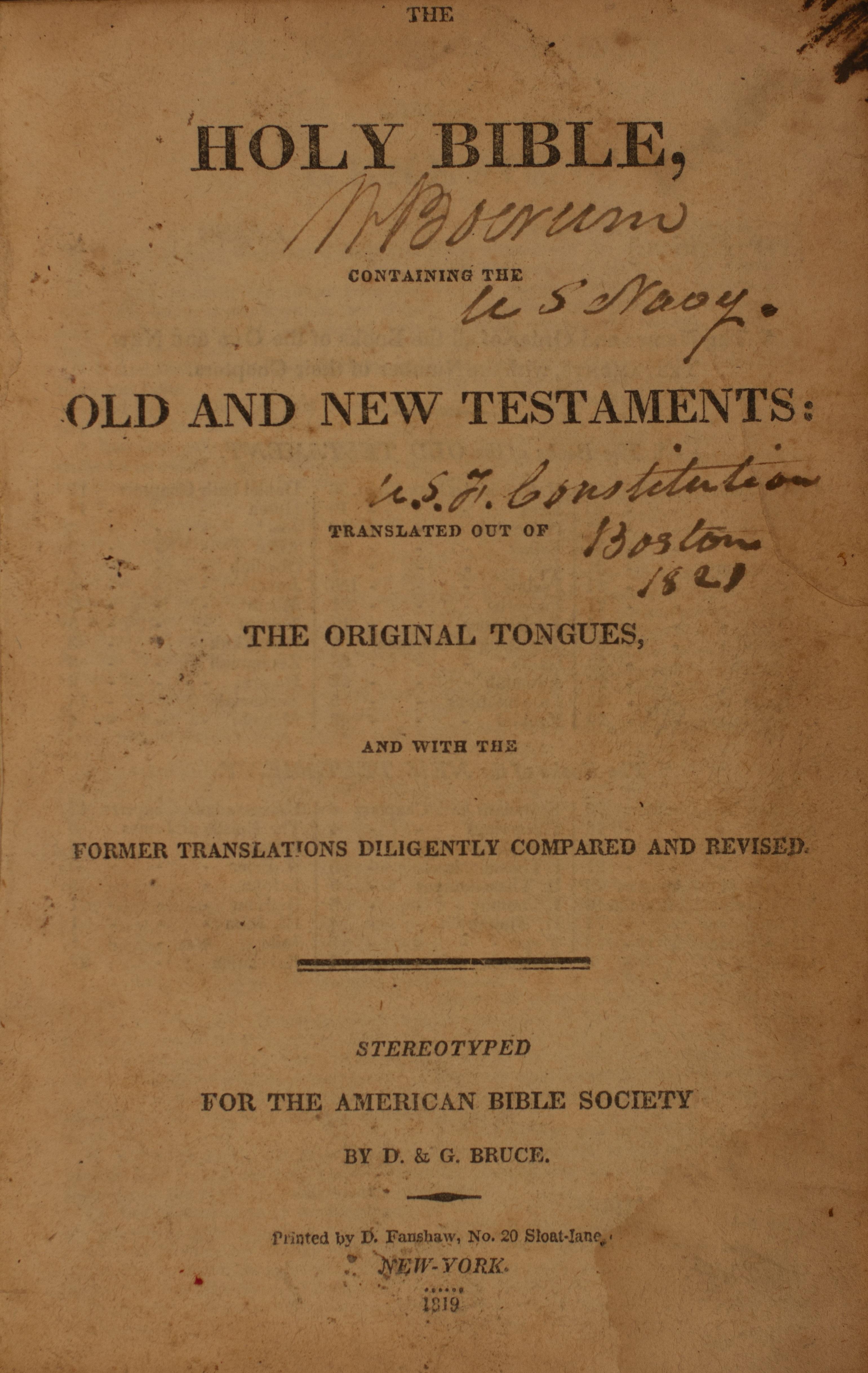 American Bible Society Bible
