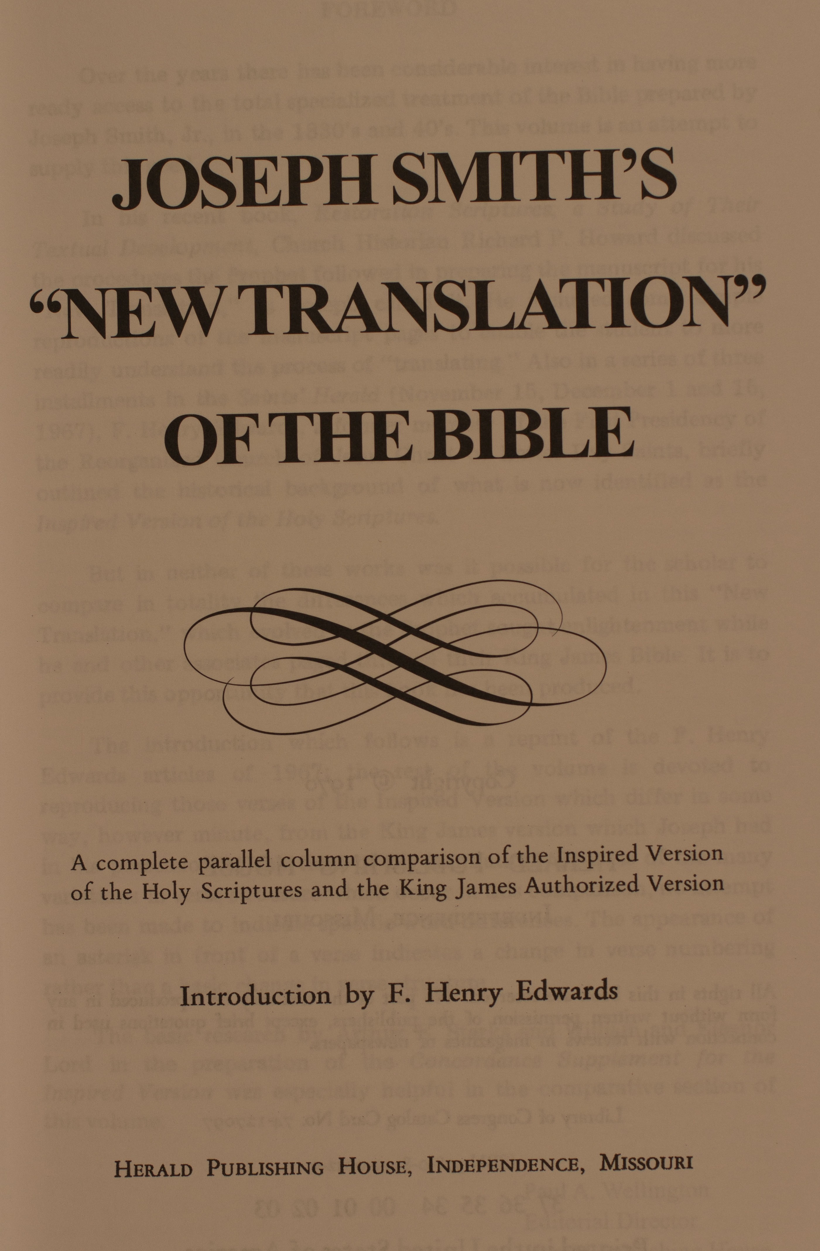 "Joseph Smith's ""New Translation"" of the Bible"