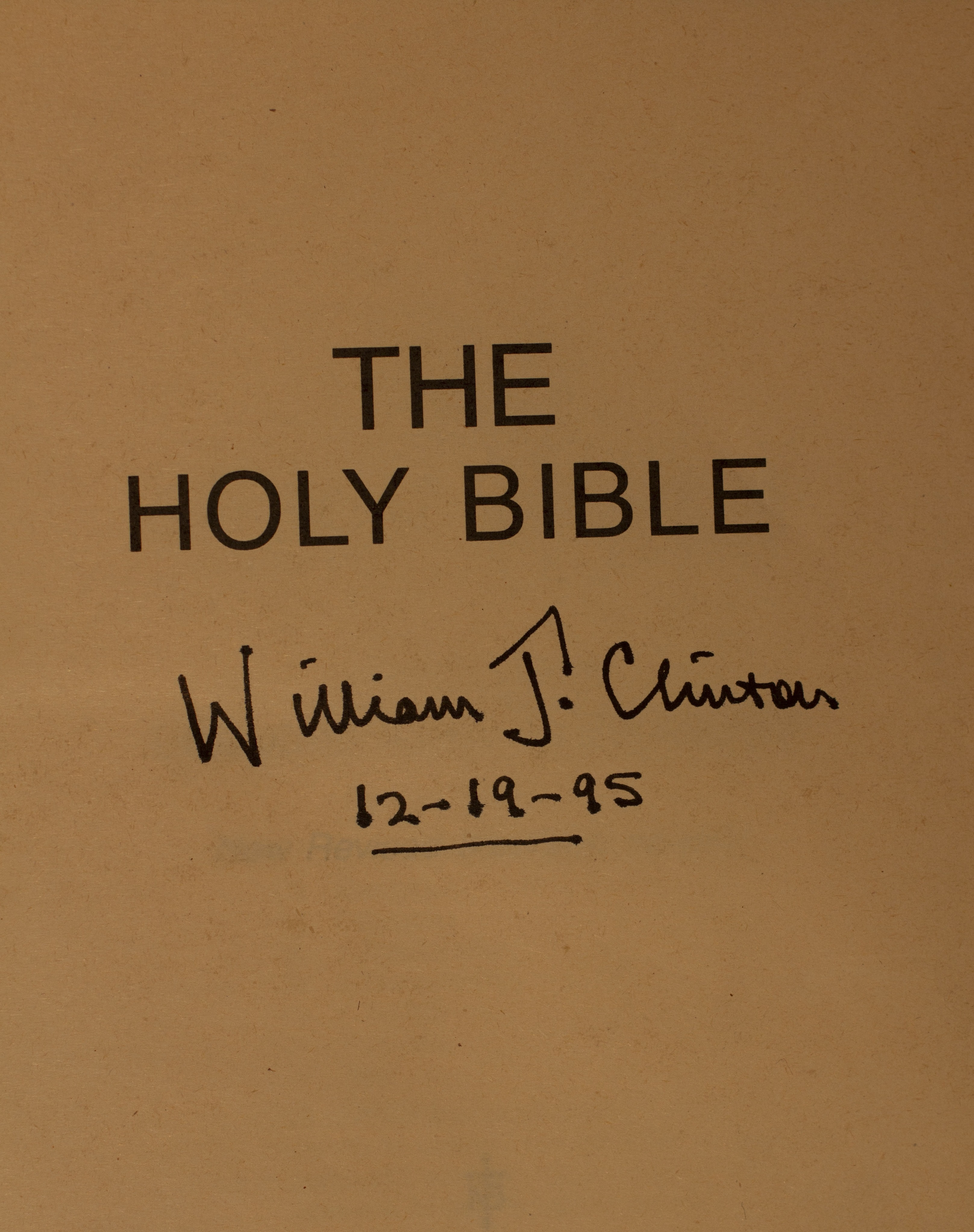 New Revised Standard Version Bible signed by President Clinton