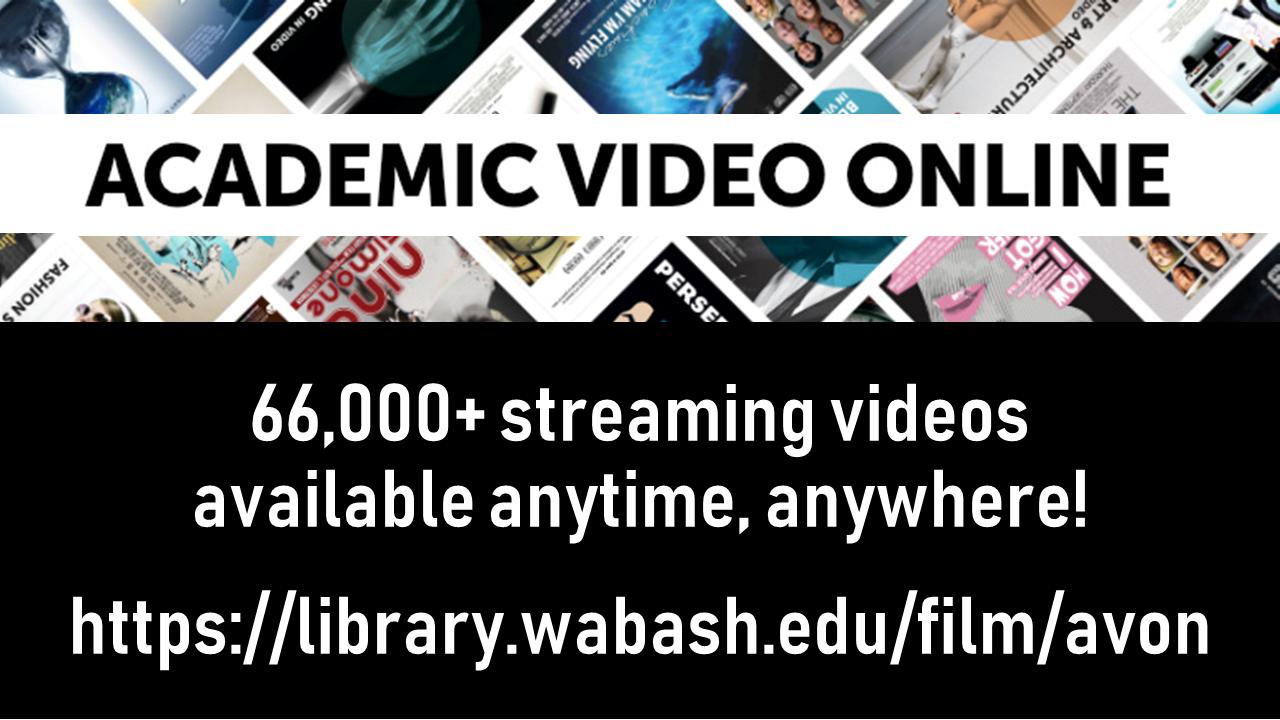 Academic Video Online slide