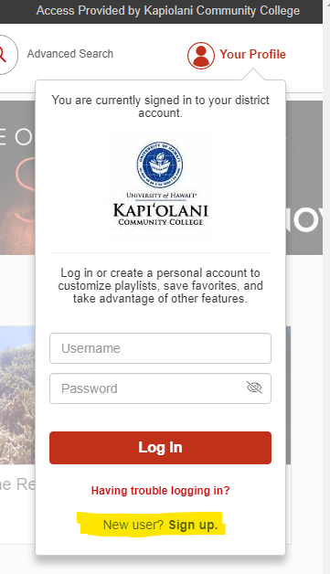 Click on your profile at the upper-right of the page and choose to create an account at the bottom of the window that appears.