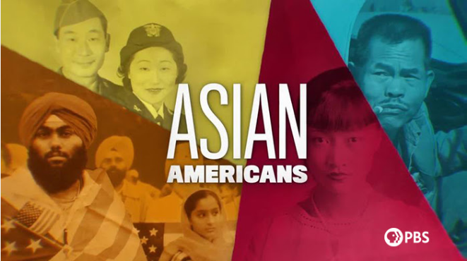Films on Demand: Asian Americans series banner for PBS showing images of various Asian Americans