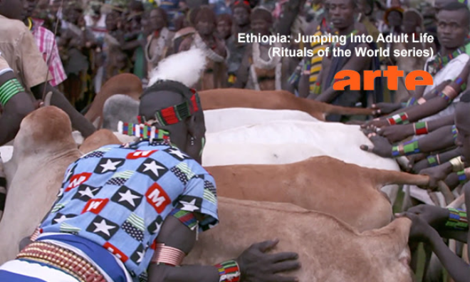 """Image with text: """"Ethiopia: Jumping into adult life (Rituals of the World series)"""""""