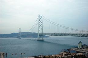akashi strait bridge morning
