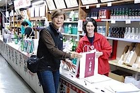 Buying sake