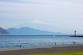 Fujisan from the beach at Miho