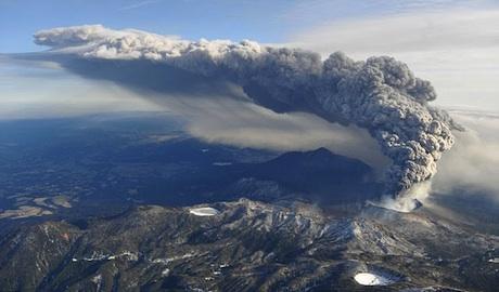 kirishima erupting