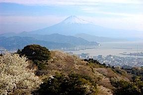Fujisan in the spring mist
