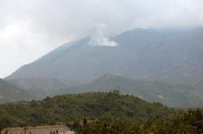 smoking crater