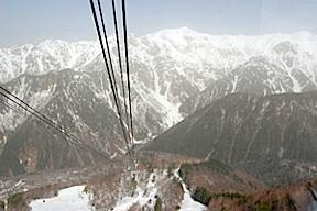 Hida mountains ropeway