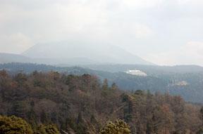 mt. takachiho in mist