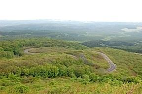 Road to Mt. Chokai