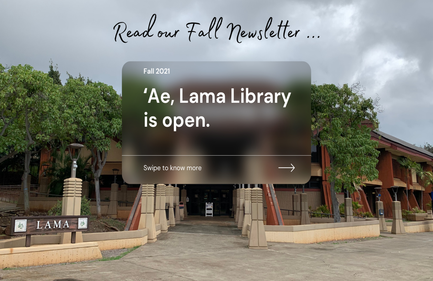 Lama building with text