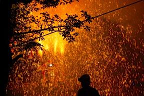 Shower of sparks