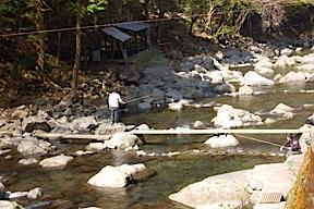 Fishing at Joren Falls