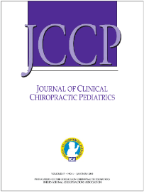 Journal cover: Journal of Clinical Chiropractic Pediatrics