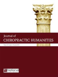 Journal cover: Journal of Chiropractic Humanities