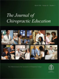 Journal cover: Journal of Chiropractic Education