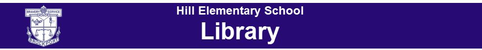 Hill elementary library banner