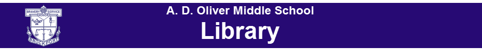 Oliver middle school library banner
