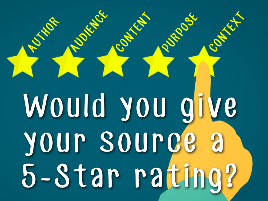 Would you give your source a 5-star rating?