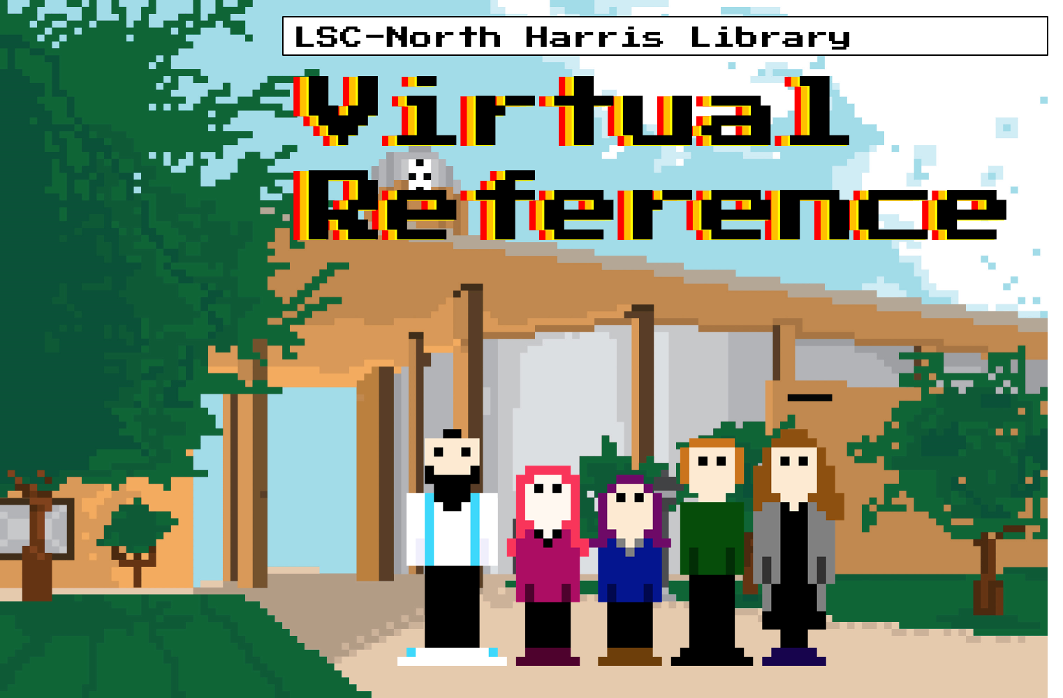 LSC-North Harris Library Virtual Reference Logo