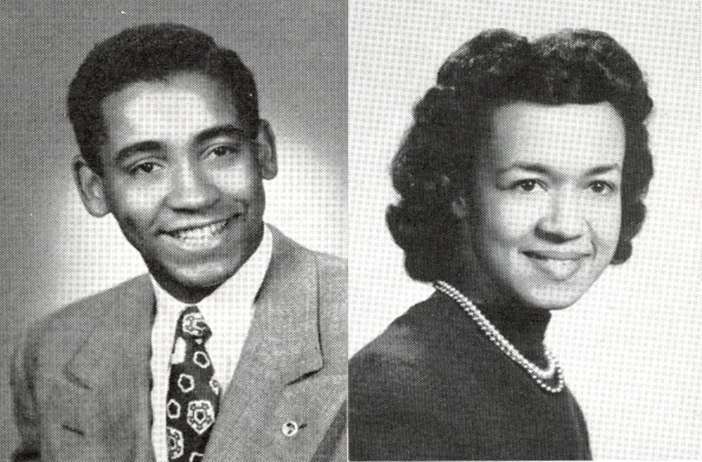 Yearbook photos of Deighton and Alice (Wentworth) Douglin (1950B)