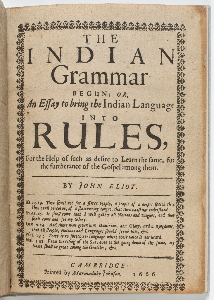 Title Page of John Eliot's