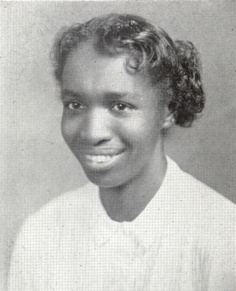 Yearbook photo of Veronica Lanier (1954)