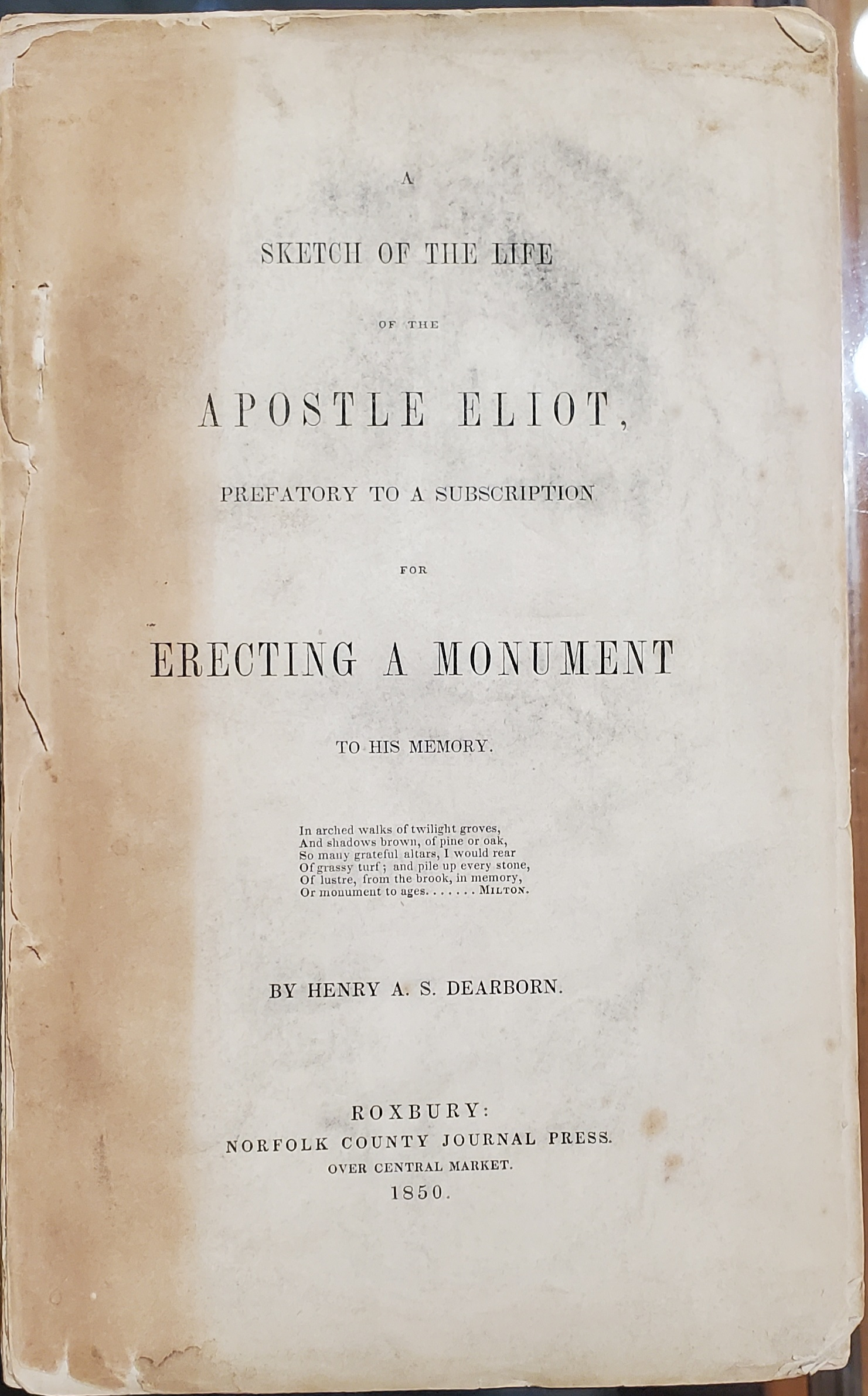 Title page for