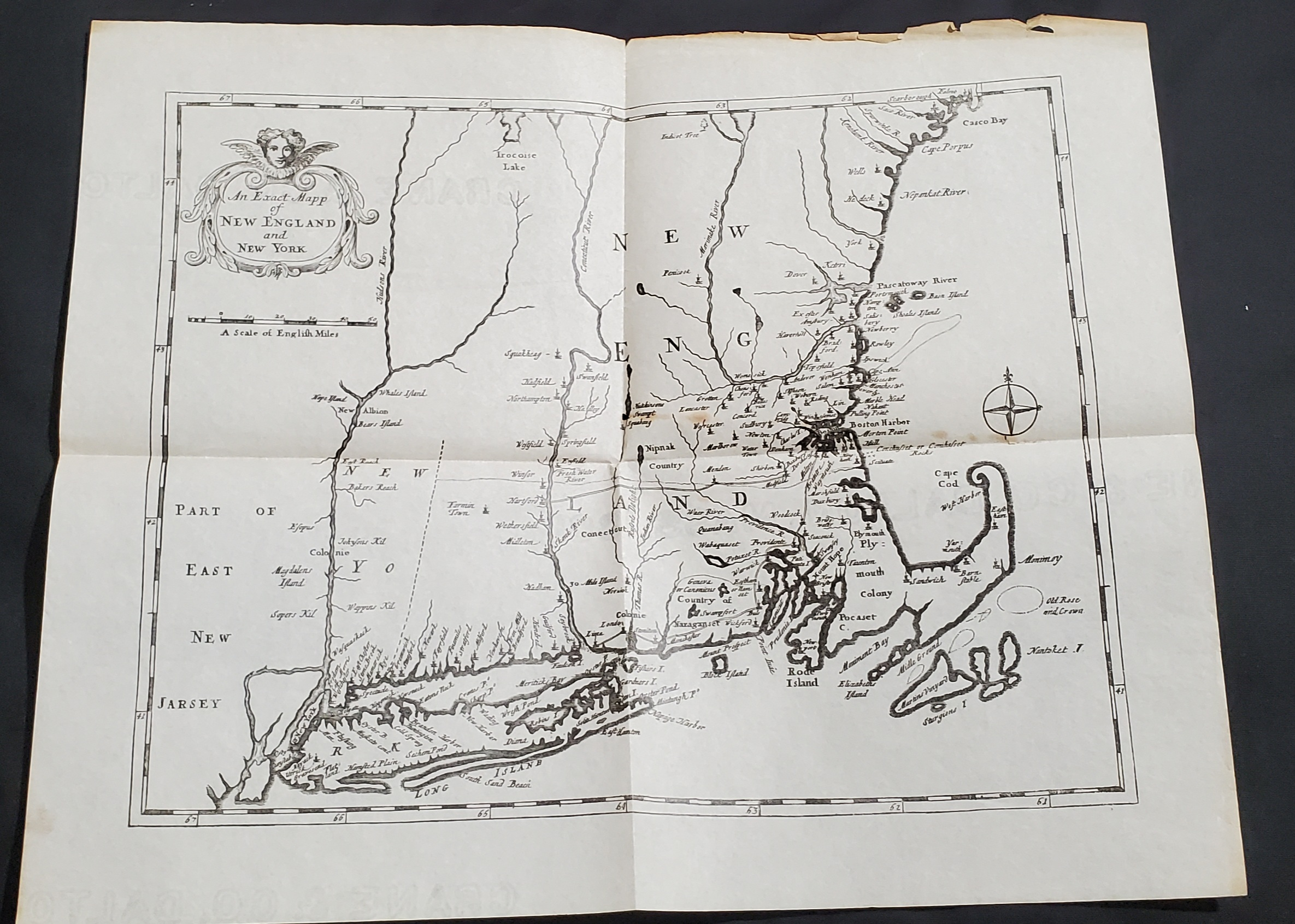 Early 18th-century map of New England