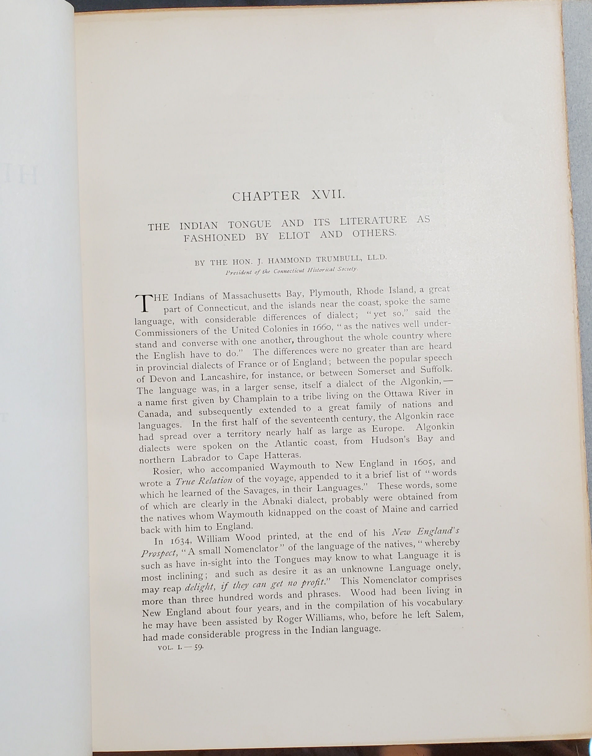 First page of